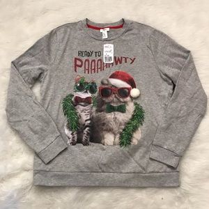 ready to pawty Christmas cat sweater